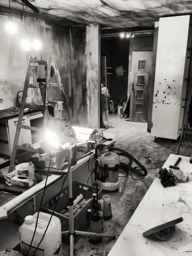 Sprzątanie po pożarze mieszkania